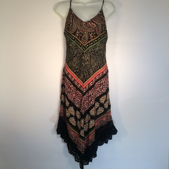 Crystal Doll Dresses & Skirts - Boho Floral Asymmetrical Dress